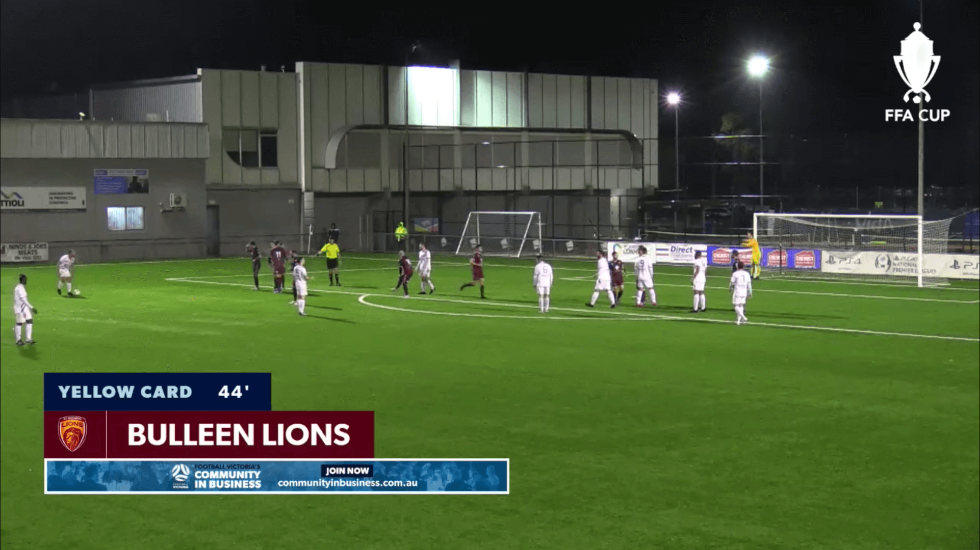 Football Victoria live stream, with automated graphics and sponsorship integration, powered by LIGR.Live.