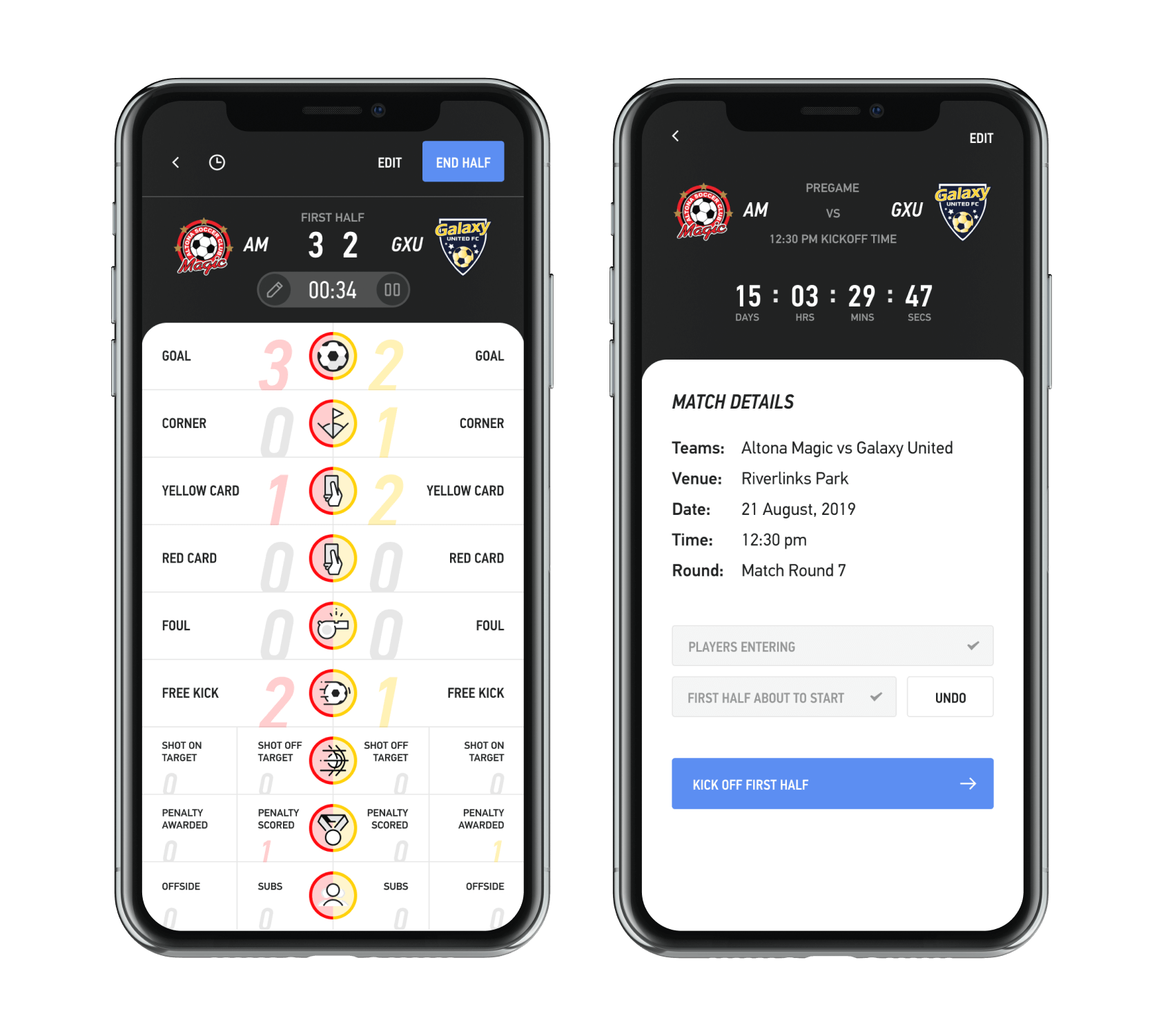The LIGR LiveScore app. Use it to score your game and automate the graphics on your live stream.