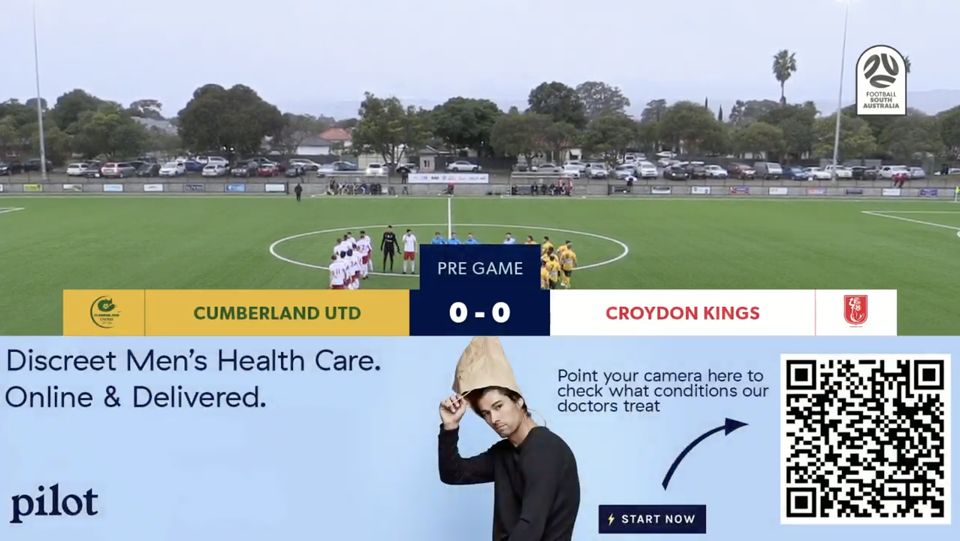 A QR code used in an ad for Pilot, a men's health services company